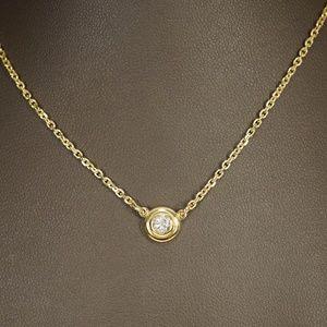 """14KY Gold 1/3ct. Bezel Set Diamond 18"""" Necklace"""